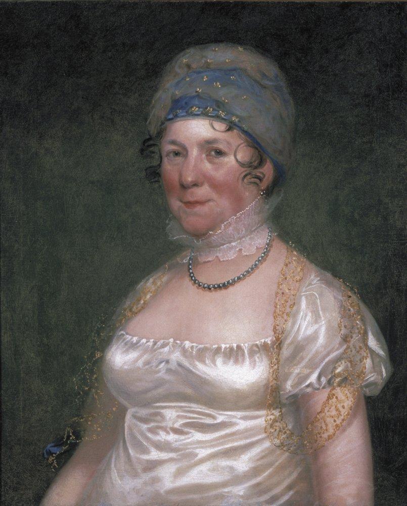 Mrs James Madison (Dolley Madison), by Bass Otis